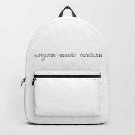 Eveyone maeks mistakes Backpack