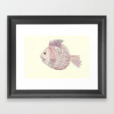 3d piranha Framed Art Print