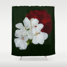 Geranium as art Shower Curtain
