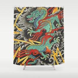 Japanese Dragon Tattoo Art Shower Curtain