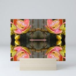 Flower collage Mini Art Print