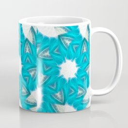Cyan Glow Kaleidoscope 6 Coffee Mug