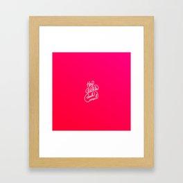 Hey lächle doch mal   [gradient] Framed Art Print