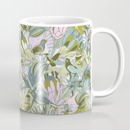 Tropical paradise | Grayish Turquoise Coffee Mug