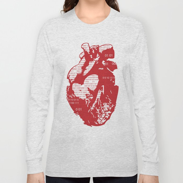 Binary heart Long Sleeve T-shirt