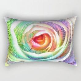 Rainbow Rose & Fractal Rectangular Pillow
