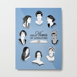 Great Women of Literature Metal Print