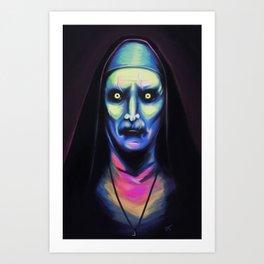Neon Nun Art Print