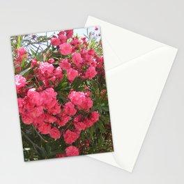 pink flower oleander Stationery Cards