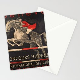Advertisement geneve concours hippique Stationery Cards