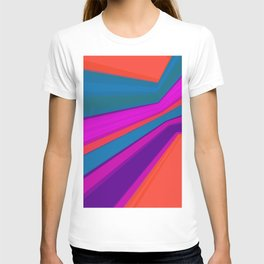 Abstract geometric pattern.Multicolored stripes T-shirt