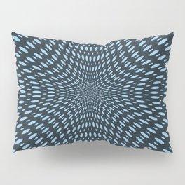 Teal Optical Illusions Pillow Sham