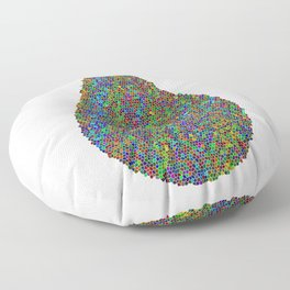 Mosaic Drops Floor Pillow
