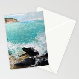 Rocky Blue Sea Stationery Cards