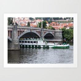 River cruise in Prague Art Print