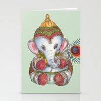 ganesh Stationery Cards featuring Ganesh by coconuttowers