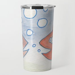 happy fish convo Travel Mug