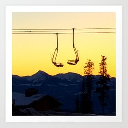 Big White Sunrise Art Print