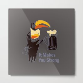Surreal toucan and Guinness beer Metal Print