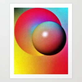 Colorful Eclipse Digital Art Art Print