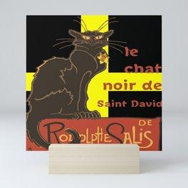 Le Chat Noir De Saint David De Rodolphe Salis Mini Art Print
