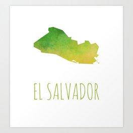 El Salvador Art Print
