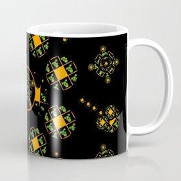 Orange and Green Spaces 115 Coffee Mug