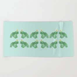 the Frog Prince Beach Towel