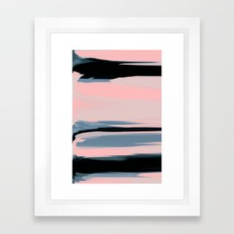 Soft Determination Peach Framed Art Print