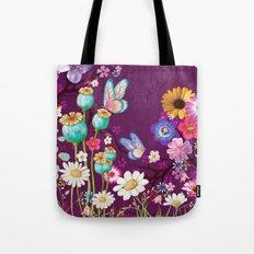 Purple Meadow Tote Bag