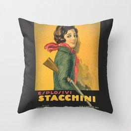 The Explosive Girl - 1929 Throw Pillow