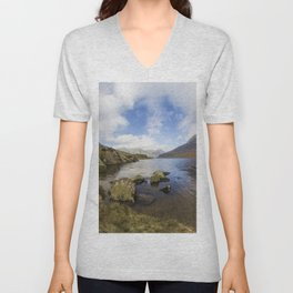 Two Hearts In The Sky Unisex V-Neck