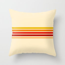 5 Colorful Stripes 22 Throw Pillow