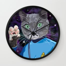 Mr. Spock Kitty - Live long and prospurr! Wall Clock