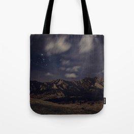 Boulder at Night Tote Bag