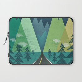 The Long Road at Night Laptop Sleeve