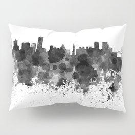 Montreal skyline in black watercolor Pillow Sham