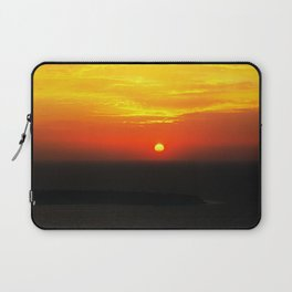 sunset in Oia Laptop Sleeve