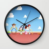toy story Wall Clocks featuring TOY STORY by Ana Xoch Guillén