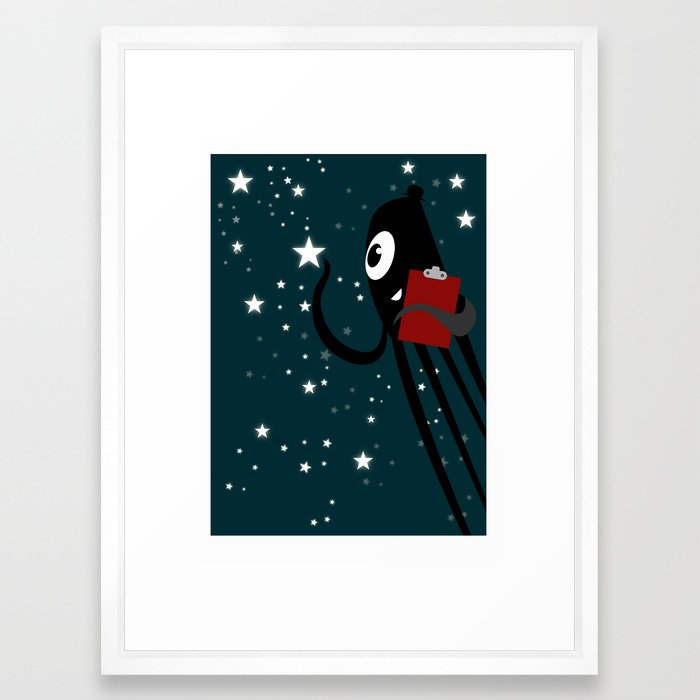 The thing that inspects the stars Framed Art Print