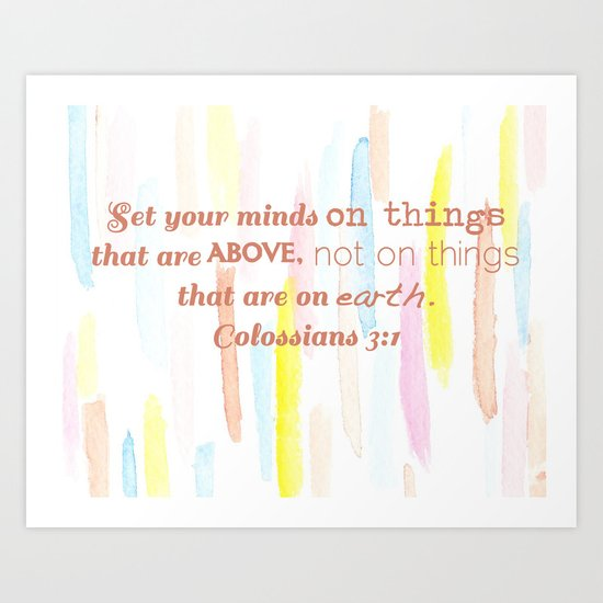 On thing above - illustration Art Print