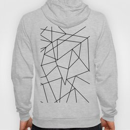 Simple Modern Black and White Geometric Pattern Hoody