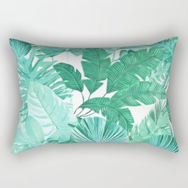 Tropical Leaf Green Rectangular Pillow