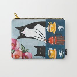 Cats and French Press Coffee Carry-All Pouch