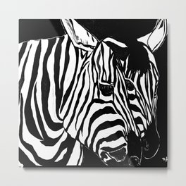 Zebra Black and White #2 Metal Print