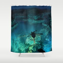 The Universe Below Shower Curtain