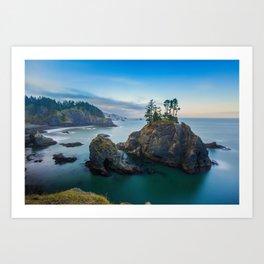 Quiet morning of Oregon Coast Art Print