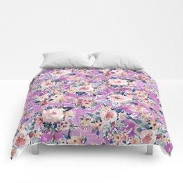 ROMANTIC AF Colorful Wild Floral Comforters