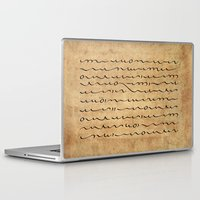 bible verses Laptop & iPad Skins featuring Asemic Script Verses by Lestaret