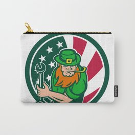 Irish-American Mechanic USA Flag Icon Carry-All Pouch